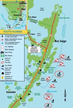 Key Largo Diving Map